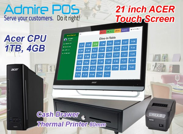 F&B POS System Cashier with 21 inch large touch screen