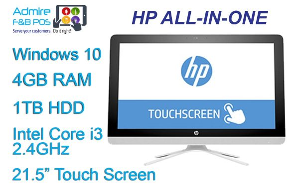 HP 21 inch Touch Screen Station