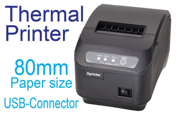 Thermal Receipt Printer (80mm, USB)
