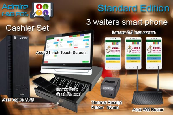 POS System with Waiter Smart Phones