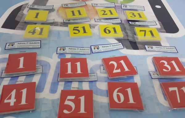 Table Numbers Laminated Stickers