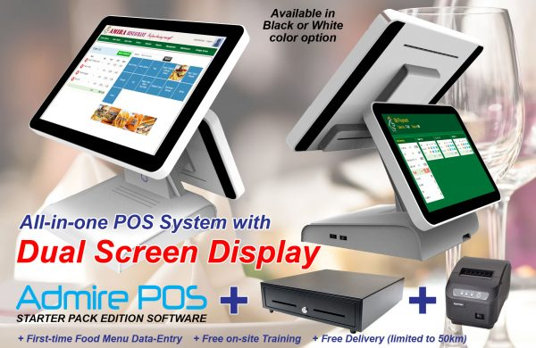 F&B POS System with Customer Display Screen